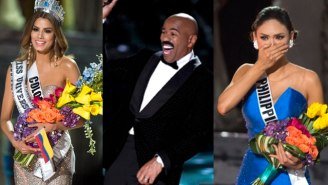 The Internet Lost Its Collective Mind After Steve Harvey's Massive Miss Universe Screw Up