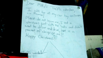Should This British Man's Funny Note Be Enough To Get Him Out Of A Parking Ticket?