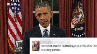 Some NFL Fans Were Pretty Damn Angry When President Obama 'Interrupted' Sunday Night Football