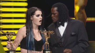 Watch The WWE Pay Homage To Steve Harvey's Miss Universe Botch During The Slammy Awards