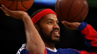 Watch Rasheed Wallace Sink A Three-Pointer With Both Hands…At The Same Time