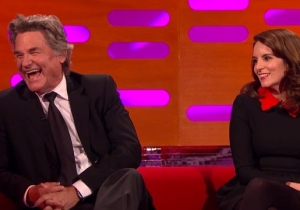 Kurt Russell Re-Enacted A Classic 'Star Wars' Scene And Talked Bras With Tina Fey