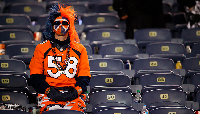sad broncos fan