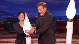 Sarah Silverman Celebrated Her SAG Nomination By Helping Conan With His Human Centipede Menorah