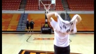 This Oklahoma State Manager Made A Half Court Shot With A Towel, And Nothing Makes Sense