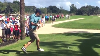 Watch Jordan Spieth Execute A Flawless 'Happy Gilmore' Swing Off The Tee