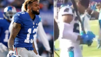 Did The Carolina Panthers Really Taunt Odell Beckham, Jr. With Baseball Bats?
