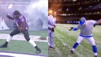 Matt Stafford Shocked The World With How Great His Ray Lewis Dance Was