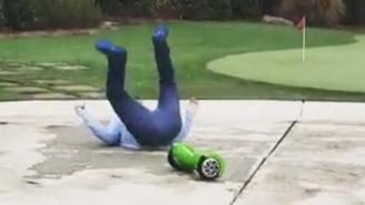 Here's Dan Uggla Falling Off Of The Hoverboard He Got For Christmas
