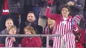 This Wisconsin Fan Dancing To 'Pony' Has The Most Holiday Spirit