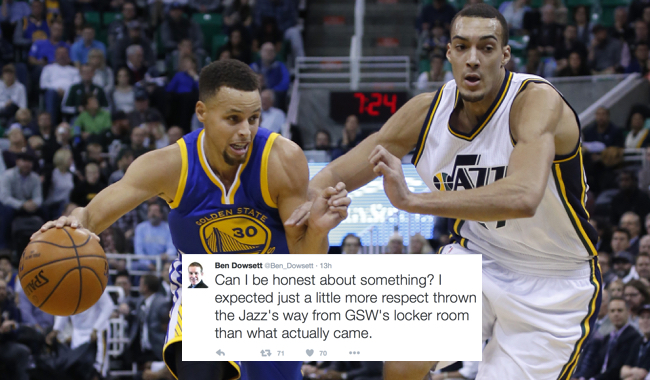 stephen curry rudy gobert disrespect tweet