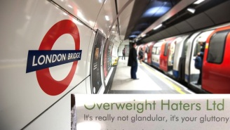 These 'Fat-Shaming' Cards Surfaced On The London Subway And People Are Disgusted