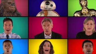 The 'Force Awakens' cast, Jimmy Fallon, and The Root did an acappella 'Star Wars' medley