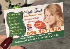 Yup, There's A Massage Parlor Using Taylor Swift's Image For Its Advertising