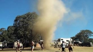 Watch These Ravers Run Into A Tornado At An Australian Music Festival