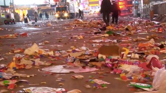 Just How Much Trash Is Left Behind In Times Square After The Ball Drops On New Year's Eve?