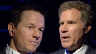 Will Ferrell And Mark Wahlberg Try To Make Each Other Laugh With Childish Insults