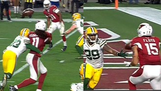 Carson Palmer Completed A Wild Go-Ahead Touchdown To Michael Floyd