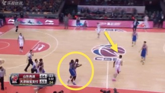 Watch Jason Maxiell Chase A Player The Length Of The Court After A Hard Foul In China