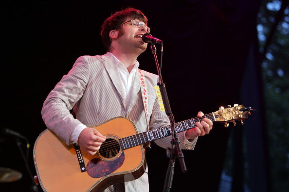 NEW YORK - JULY 16: Colin Meloy of the band the Decemberists performes onstage at Central Park SummerStage July 16, 2007 in New York City. (Photo by Bryan Bedder/Getty Images)