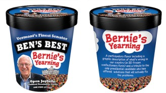 The Founder Of Ben & Jerry's Made A Home-Batch Of Bernie Sanders Ice Cream
