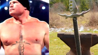 Somebody Turned Brock Lesnar's Tattoo Into A Real Knife That Can Kill You