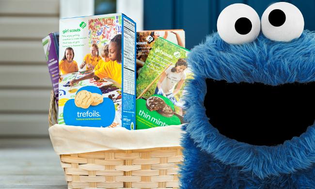 Cookie monster girl scout cookies