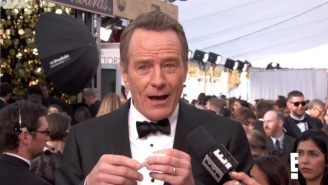 Bryan Cranston Laughs Until He Cries While Watching His Old 'Baywatch' Clip At The SAG Awards