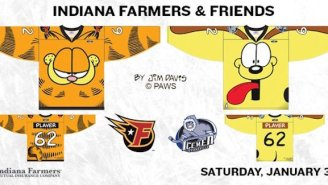These Ridiculous 'Garfield' Jerseys Are Actually Going To Be Worn During A Minor League Hockey Game