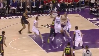 Dennis Schröder's Backwards, Wrap-Around Pass Fools Every Member Of The Sacramento Kings