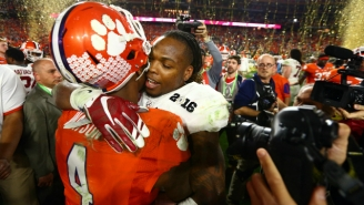 Derrick Henry And DeShaun Watson Shared A Touching Moment After Alabama's Win