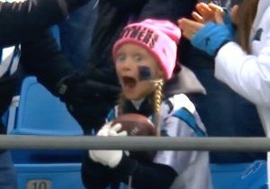 This Little Panthers Fan Had The Best Reaction To Receiving A Touchdown Ball