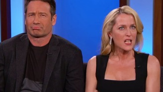 David Duchovny and Gillian Anderson's 'Kimmel' interview was awkward as hell