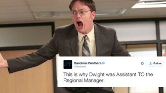The Panthers' Twitter Account Roasted A Star From 'The Office'