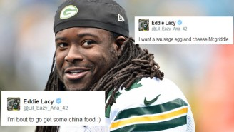 Eddie Lacy Spent Years On Twitter Talking About Food, And It's Kind Of Wonderful