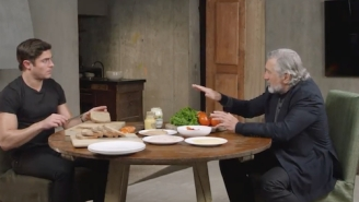 Watch Robert De Niro Trick Zac Efron Into Making Him A Tasty-Looking Turkey Sandwich