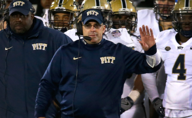 Pittsburgh head coach Pat Narduzzi