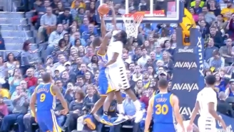 Kenneth Faried Rises High To Stonewall Harrison Barnes' Dunk Attempt