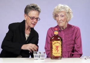 Watch These Grandmas 'Ignite The Night' By Trying Fireball Whisky For The First Time