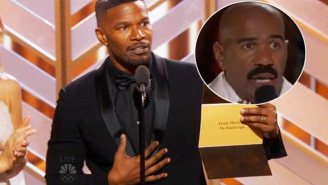 Jamie Foxx Pulled A 'Steve Harvey' While Announcing The Golden Globe For Original Score