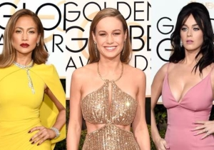 Here Are The Flashiest Fashion Hits And Misses Of The Golden Globes