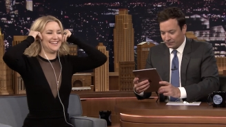 Kate Hudson And Jimmy Fallon Engaged In A Dubsmash Duel On 'The Tonight Show'