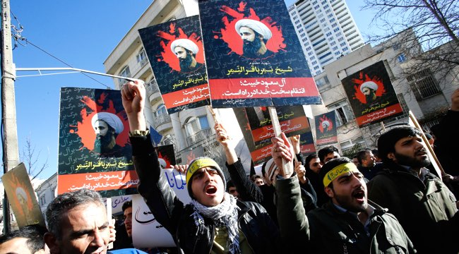 Protest in Tehran against execution of Shiite cleric