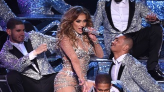 Jennifer Lopez's Slight Wardrobe Malfunction Brings Out The 15 Year Old In All Of Us
