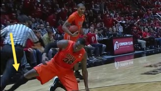 This College Basketball Player Purposely Tripping A Ref Proves No One Is Safe In Sports