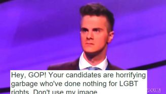 This Gay 'Jeopardy' Contestant Snapped Back At The GOP For Using His Image