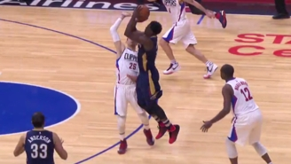 Austin Rivers Fouls Jrue Holiday On A Three-Point Attempt At The Worst Possible Time