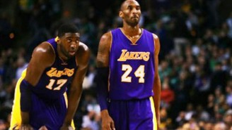 Kobe Bryant Really Doesn't Want Roy Hibbert To Put His Hand On Him