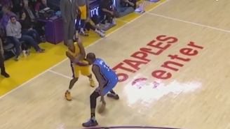 Kobe Bryant Totally Nutmegged Kevin Durant On This Assist To Roy Hibbert