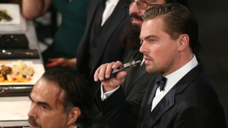 Leonardo DiCaprio And His Vape Pen Were Apparently The Hottest Topic At The SAG Awards